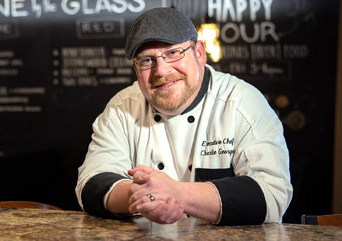 Executive Chef Charlie George at JavaVino in La Crosse, Wisconsin.